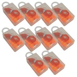 10Pcs Soft Silicone Corded Ear Plugs Reusable Hearing Protec