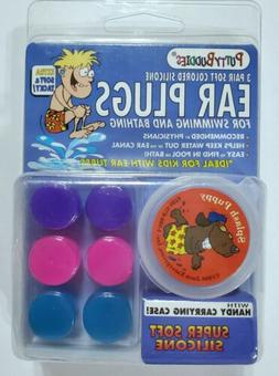 Putty Buddies Ear Plugs 3 PAIR Soft Moldable Silicon Waterpr