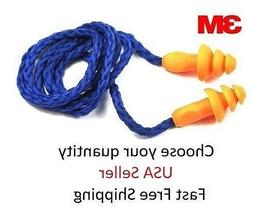 Ear Plugs Corded Reusable 3M 1270 High Quality Super Soft Si