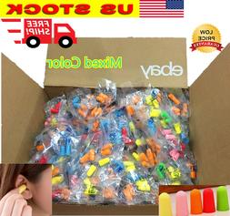 Ear Plugs Lot Bulk soft Orange Colorful foam sleep travel no