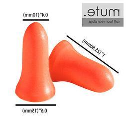 100 Pair Ear Plugs Memory Foam Soft NRR 33 Bell by Mute Bran