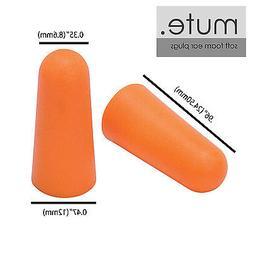 100 Pair Ear Plugs Memory Foam Soft NRR 33 BULLET by Mute Br