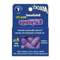 EAR PLUGS SLIM FIT MACKS 5 PR