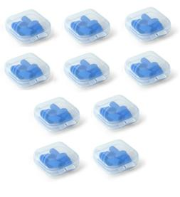 earplugs 10 pairs 10 boxes blue silicone
