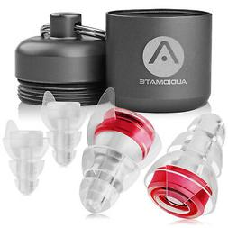 Audiomate High-Fidelity Earplugs with Metal Keychain Carry C