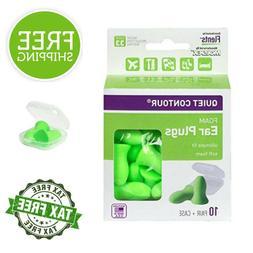 Flents Quiet Contour Ear Plugs 10-Pair Comfortable Fit 33 De