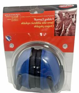 AOSafety Folding Earmuff Headset Hearing Protector - BLUE