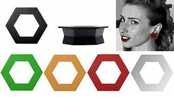 GeoGauges Brand Hexagon Shaped Silicone Tunnels Ear Plugs Ga