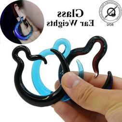 Glass Ear Spirals Taper Stretcher Piercing Gauges Ear Plug