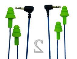 Workinbuds Green/Blue Earplug Earphones/Noise Reduction Head