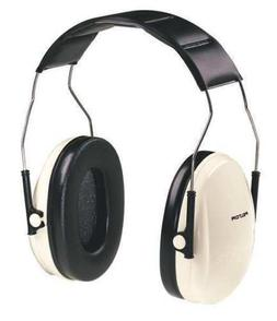 3M H6A/V Ear Muffs,Over-the-Head,Beige/Black,21dB