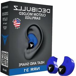 Hearing Protection Ear Plugs CUSTOM MOLDED Blue 31 DB Made I