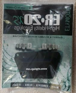 ETYMOTIC Research High Fidelity Ear plugs ER20XS-SMF-P Frost