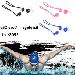 For Kids Adults Diving Swimming Waterproof Ear Plugs & Nose