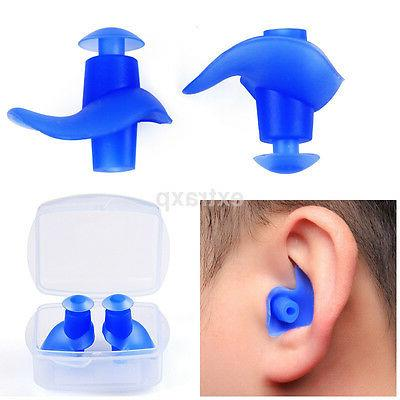 1 pair Waterproof Swimming Earplugs Silicone Swim Ear Plug F