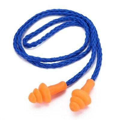 10 Pairs Plugs Reusable Safety Earplugs Soft Silicone
