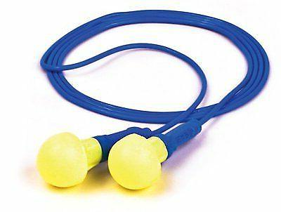 5 pairs push in ear plugs corded