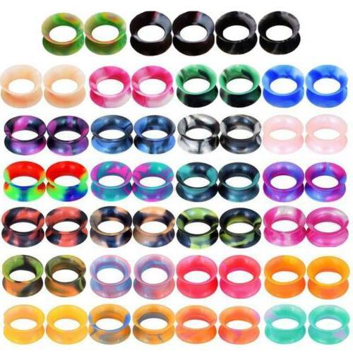 100PCS Ear Color Earskin Ear Gauges