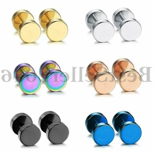 12pcs stainless steel barbell dumbbell men women