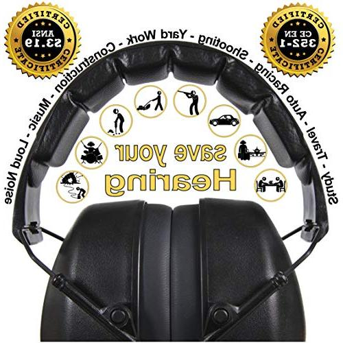 ClearArmor 141001 Protection Ear Folding-Padded Cups, Black