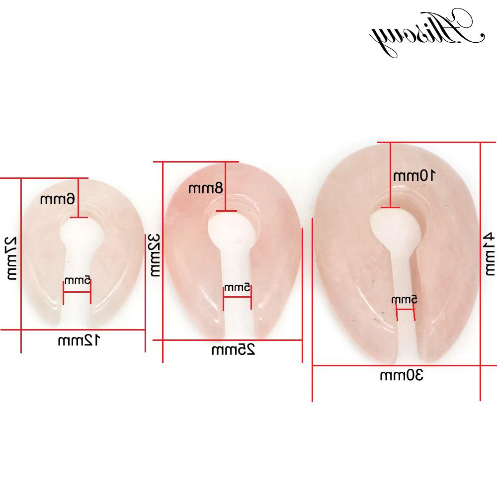 Alisouy 1pc Round hole Pink Stone <font><b>Ear</b></font> Expander 6/8/10mm Body