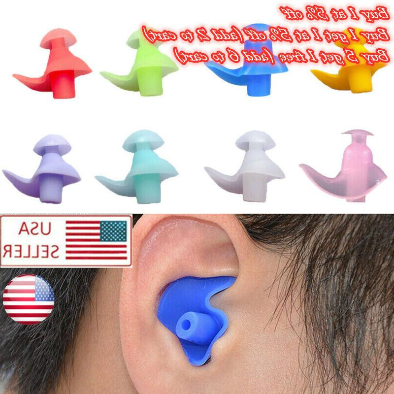 2 pairs soft silicone noise cancelling ear