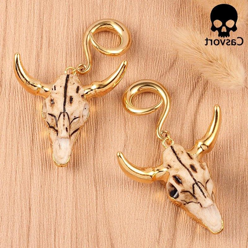 Casvort 2 <font><b>weight</b></font> <font><b>ear</b></font> piercing jewelry tauren piercing