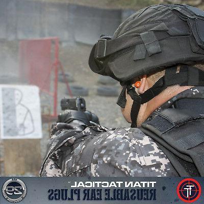 Titan Tactical 29NRR Reusable Shooting Plugs Removable
