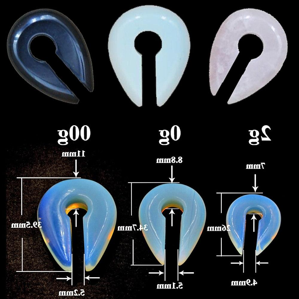 2pcs keyhole pink opal font b ear