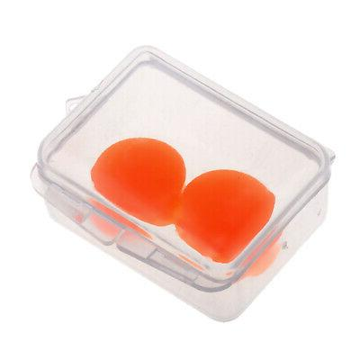 2pcs Waterproof Soft Silicone Earplugs Swimming Bathing Ear Plugs