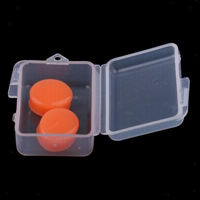 2pcs waterproof soft silicone earplugs swimming diving