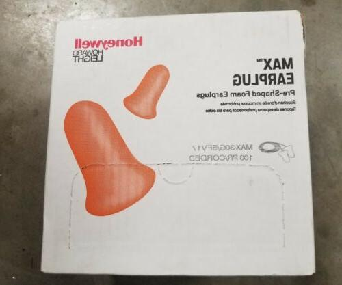 33dB Disposable Bell-Shape Ear Plugs; Corded, Orange, Univer