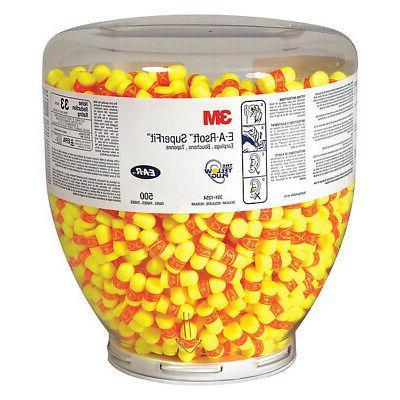 3M 391-1254 Uncorded Ear Plugs, 33dB Rated, Disposable Taper