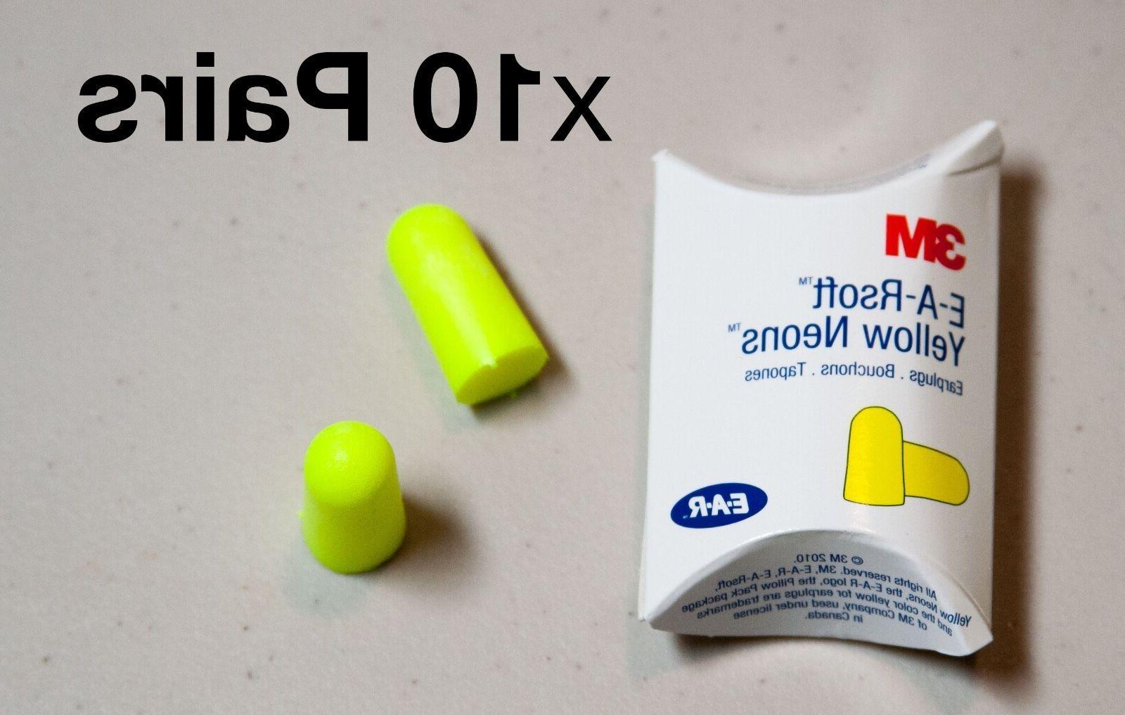 3M E-A-R Classic Earplugs, Pillow Paks, Uncorded, Foam, Yell