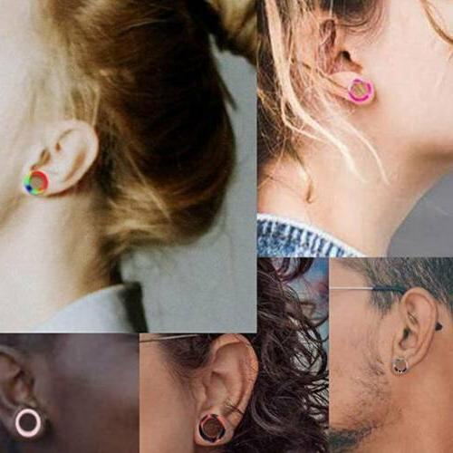 100PCS Ear Plugs Random Mixed Color Gauges