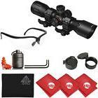"""UTG 4X32 1"""" Scope, RGB Reticle, QD Rings + Titan Ear Plugs +"""