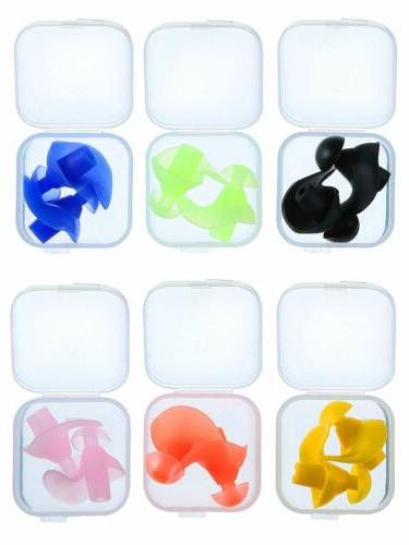 6 Pack Swimming Waterproof Soft Earplugs Ear Protector For