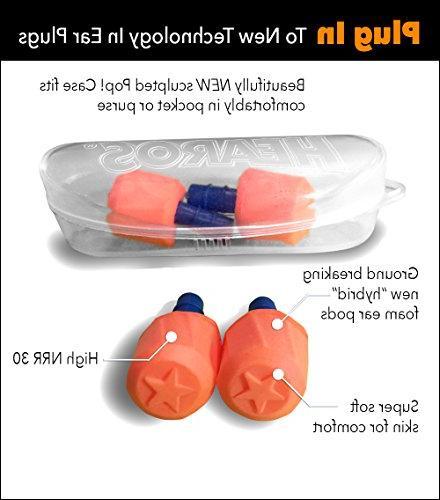 HEAROS SoftStar Series Ear Pods Twist Grip, Orange