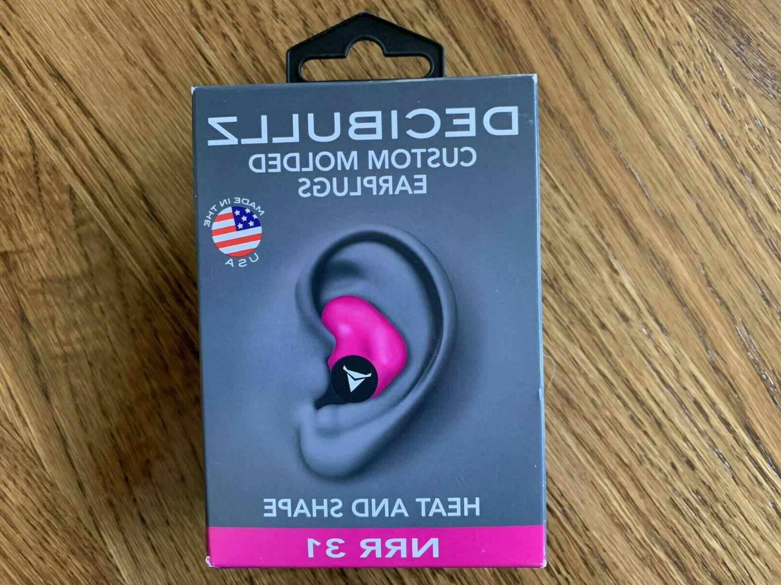Decibullz - NRR 31 Custom Molded Earplugs, Perfect Fit Ear P