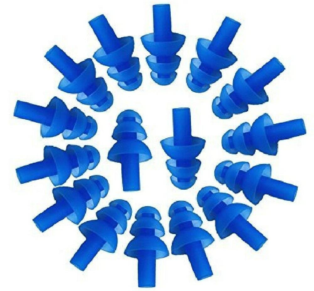 blue soft silicone earplus swim
