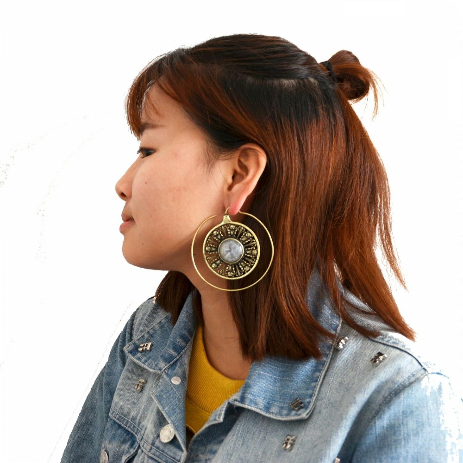 Brass Ear Weight Style Mixed Earrings Expandera Plugs