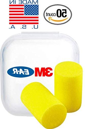 3M Classic Ear Plugs, Foam Earplugs Noise Count in a Jar