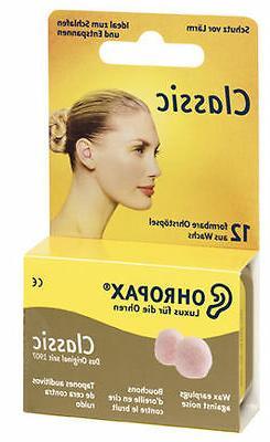OHROPAX Classic Wax Ear Plugs for Noise Reduction, Sleep, St