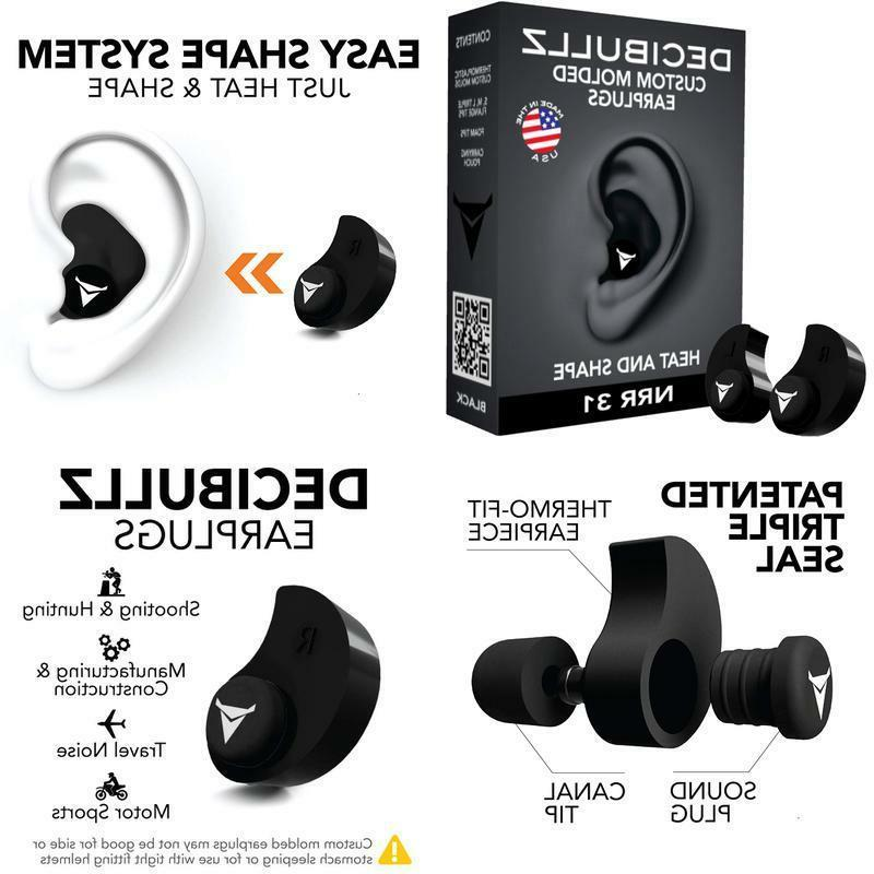 Decibullz - Custom Molded Earplugs, 31Db Highest Nrr, Comfor