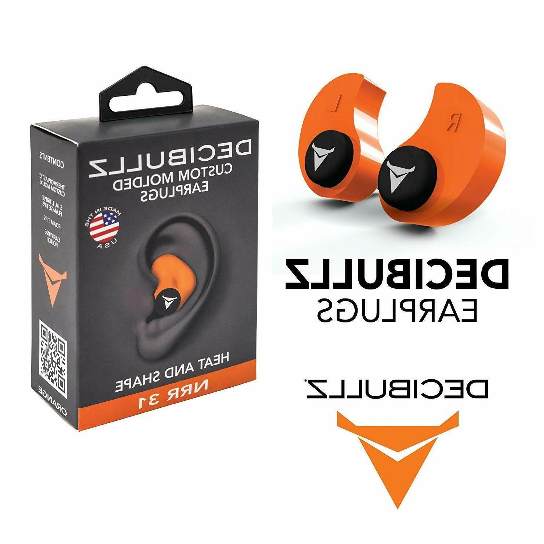 Decibullz - Custom Earplugs, 31dB Highest - Orange