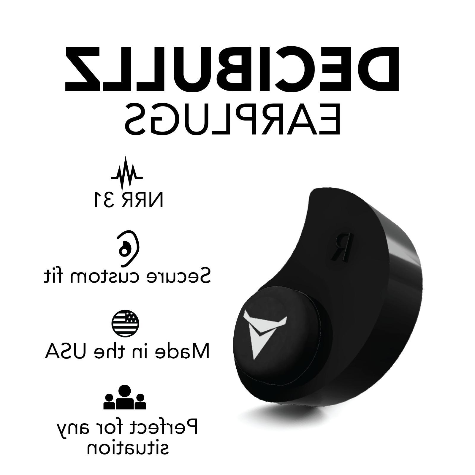 Decibullz Custom EarPlugs Hearing Defenders Shooting
