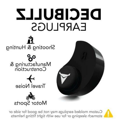 Decibullz - Custom Molded Earplugs Highest NRR, Comfortable