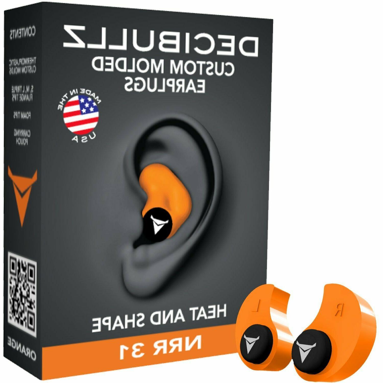 Decibullz Molded NRR 31 molded , ear plug .