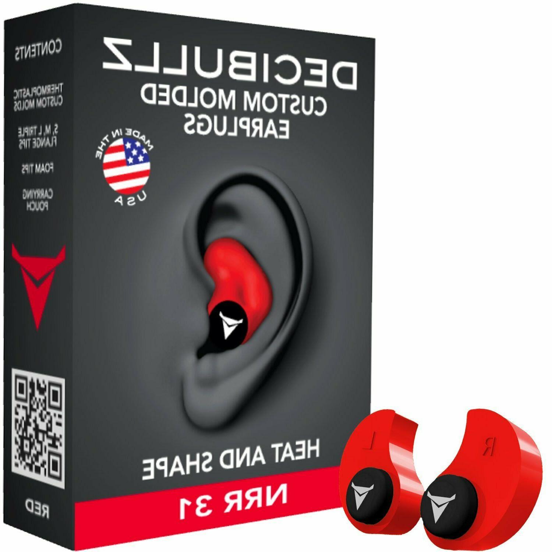 Decibullz NRR 31 , molded , ear plug .
