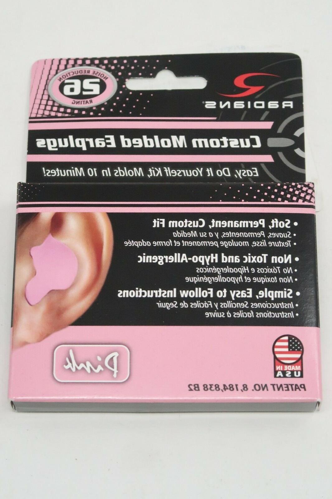 custom molded earplugs pink